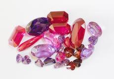 Pedras lapidadas semipreciosas Fotos de Stock Royalty Free