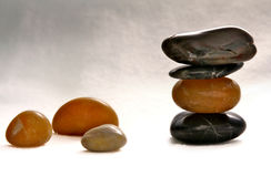 Pedras lustradas balançadas zen Fotografia de Stock