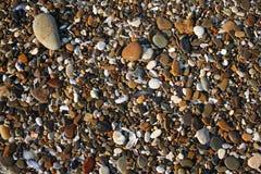 Pedras molhadas do mar fotografia de stock