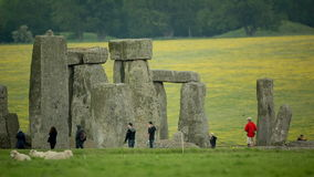 Pedras monolíticas Inglaterra do henge de pedra video estoque