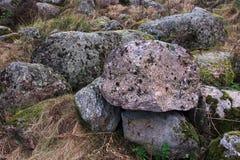 Pedras musgosos da idade do gelo Imagem de Stock Royalty Free