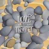 Pedras na areia ilustração royalty free