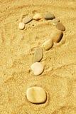 Pedras na areia Fotografia de Stock Royalty Free