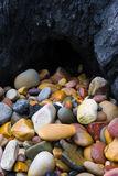 Pedras na baixa maré Fotografia de Stock Royalty Free