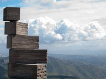 Pedras na montanha de Monserrate Fotografia de Stock