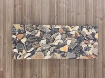 Pedras na parede Foto de Stock