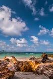 Pedras na praia Foto de Stock
