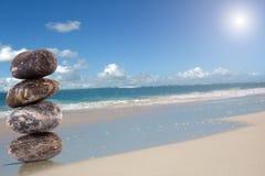 Pedras na praia Foto de Stock Royalty Free