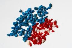 Pedras nas cores da bandeira americana Fotos de Stock