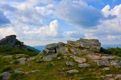 Pedras nas montanhas fotos de stock royalty free