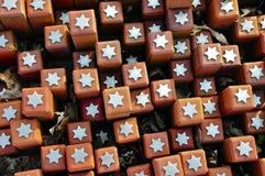 102 000 pedras no acampamento do trânsito de Westerbork Foto de Stock Royalty Free