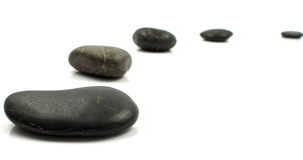 Pedras no branco Foto de Stock