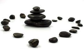 Pedras no branco Fotos de Stock Royalty Free