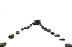 Pedras no branco Fotos de Stock