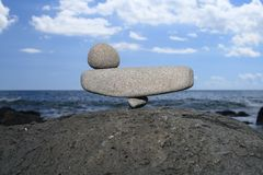 Pedras no equilíbrio perfeito Fotografia de Stock