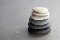 Pedras no fundo preto Imagem de Stock Royalty Free