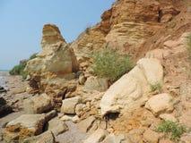 Pedras no mar Fotografia de Stock Royalty Free