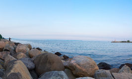 Pedras no porto de Aarhus Fotografia de Stock Royalty Free
