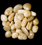 Pedras no preto Imagem de Stock Royalty Free