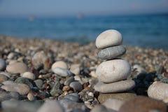 Pedras no seashore imagem de stock