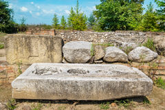 pedras Parque arqueológico de Dion, Grécia Fotografia de Stock