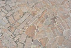 Pedras, partes de granito, materiais de construção com cimento fotografia de stock