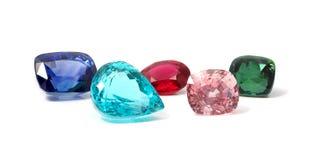 Pedras preciosas coloridas naturais Foto de Stock Royalty Free