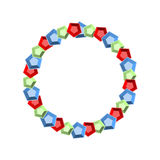 Pedras preciosas das gemas redondas do quadro Estima o fundo círculo R Fotografia de Stock