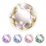 Pedras preciosas dos diamantes Foto de Stock