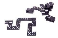 Pedras pretas do dominó Imagem de Stock