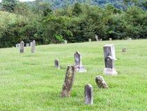 Pedras principais do cemitério fotografia de stock