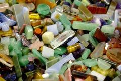 Pedras semi preciosas naturais da gema do fundo Imagem de Stock