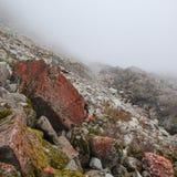 Pedras vermelhas na névoa Imagem de Stock Royalty Free