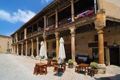 Pedraza. Arcades. Village of Pedraza, in the province of Segovia, Spain Stock Image
