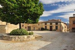 Pedraza, Castile, Spain. Village square stock photography