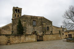Pedraza medeltida by, Spanien Arkivbilder