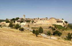 Pedraza wioski Średniowiecznego głównego placu Typowa architektura cityscape zdjęcia royalty free