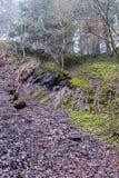 Pedregal bajo borde de fractura de tierra en la mina en Bromberg Fotografía de archivo libre de regalías