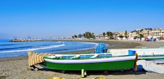 Pedregalejo Beach in Malaga, Spain. View of Pedregalejo Beach in Malaga, Spain Royalty Free Stock Photos