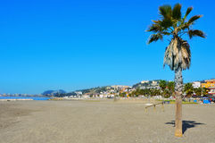 Pedregalejo Beach in Malaga, Spain Royalty Free Stock Images