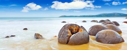 Pedregulhos de Moeraki Fotografia de Stock Royalty Free
