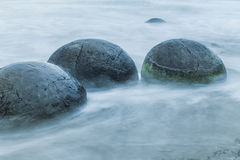 Pedregulhos de Moeraki Imagem de Stock Royalty Free