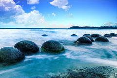 Pedregulhos de Moeraki Foto de Stock Royalty Free