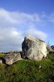 Pedregulhos do granito nos montes de Kola Peninsula Imagem de Stock Royalty Free