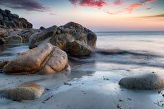 Pedregulhos em Porth Nanven Fotografia de Stock Royalty Free