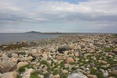 Pedregulhos na costa Fotografia de Stock