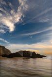 Pedregulhos na praia fotografia de stock