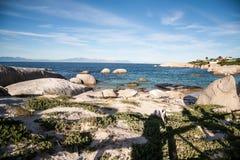 Pedregulhos praia, cidade do cabo Imagem de Stock