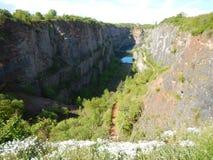 Pedreira anterior Amerika na paisagem checa imagens de stock