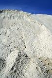 A pedreira branca do monte da areia gosta da paisagem da lua imagens de stock
